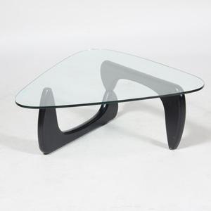 Noguchi Ebonized Wood and Glass Coffee Table