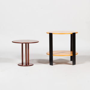 Two Round Occasional Tables