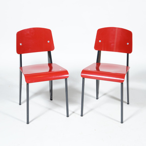 Pair of Vitra Prouvé Style Side Chairs