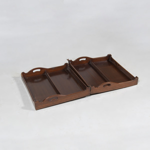 George III Style Mahogany Folding Coaching Tray
