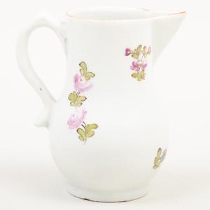 Lowestoft Porcelain Sparrow Beaked Cream Jug