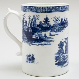 Lowestoft Porcelain Blue and White Mug