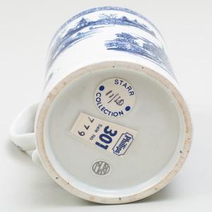 Lowestoft Porcelain Blue and White Mug