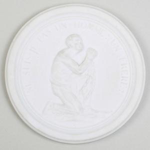 Sèvres Biscuit Porcelain Oval Slave Medallion