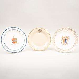 Three Wedgwood Armorial Plates