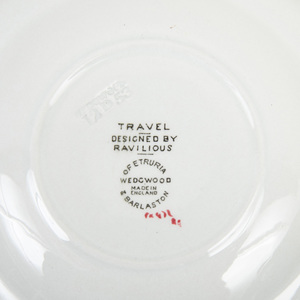 Wedgwood Transfer Printed and Enriched Part Service in the 'Travel' Pattern Designed by Designed by Eric Rivillous