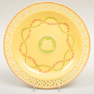 Wedgwood Yellow Ware Reticulated Plate