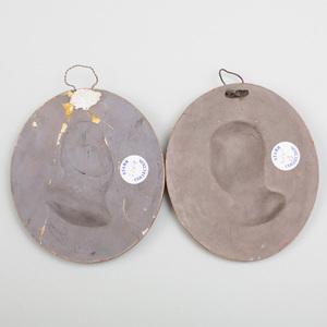 Pair of Wedgwood Terra-Cotta Circular Portrait Medallions of Plato and Perseus