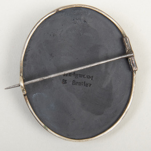Wedgwood & Bentley Black Basalt Oval Portrait Medallion of Benjamin Johnson