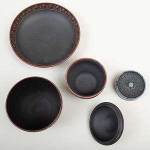 Group of Wedgwood Black Basalt Encaustic Wares