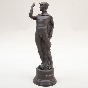 Wedgwood Black Basalt Figure of Mercury