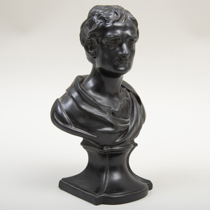 Wedgwood Black Basalt Bust of Sir Isaac Newton