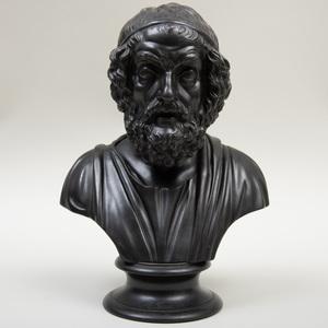 Wedgwood Black Basalt Bust of Homer