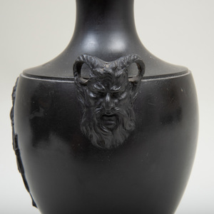 Wedgwood & Bentley Black Basalt Vase