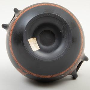 Wedgwood Black Basalt Encaustic Decorated Two Handle Vase