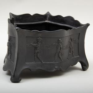 Wedgwood Black Basalt Bough Pot