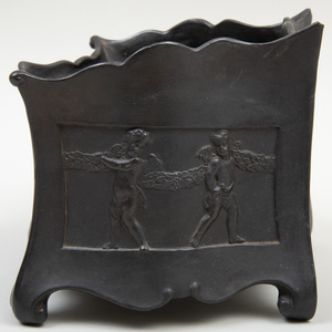 Wedgwood Black Basalt Bough Pot