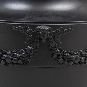 Wedgwood Black Basalt Vase and Cover