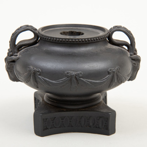 Wedgwood Black Basalt Two Handle Ink Pot