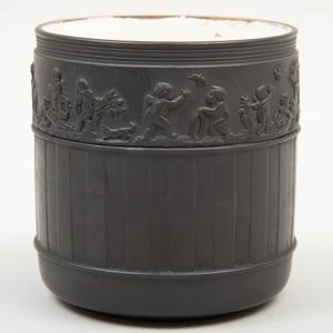 Wedgwood Black Basalt Cylindrical Jar