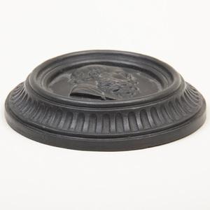 Wedgwood Black Basalt Oval Portrait Medallion of Socrates