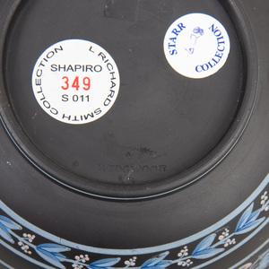 Wedgwood Black Basalt Encaustic Decorated Bowl