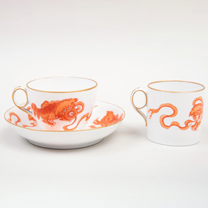 Wedgwood Transfer Printed Porcelain Trio in the 'Chinese Tigers' Pattern