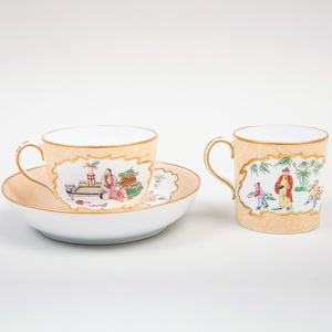 Wedgwood Transfer Printed and Enriched Porcelain Trio
