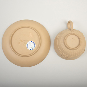 Wedgwood Caneware Cup and a Saucer
