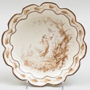 Wedgwood Creamware Shaped Circular Dish