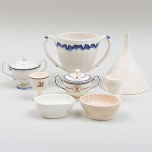 Group of Eight Wedgwood Creamware and Pearlwares