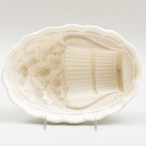 Wedgwood Creamware Oval Jelly Mold