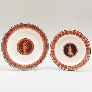 Two Similar Wedgwood Creamware Plates