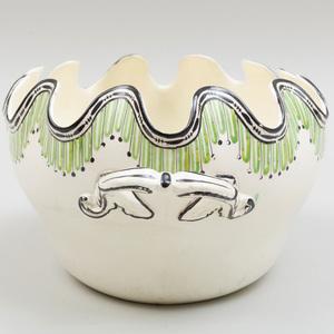 Wedgwood Creamware Oval Two Handle Monteith