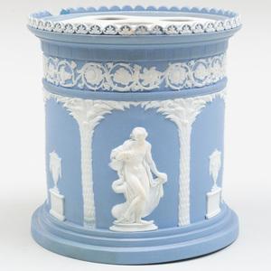 Wedgwood Blue and White Jasperware Bough Pot