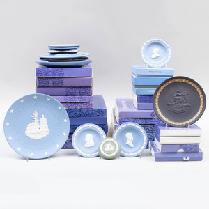 Large Quantity of Wedgwood Plates and Dishes, Modern