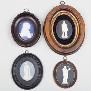 Four Wedgwood Jasperware Oval Medallions