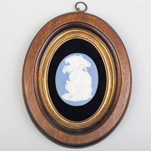 Wedgwood and Bentley Blue Jasper Clip Medallion with Classical Scene