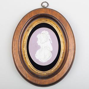 Wedgwood Lilac Jasper Dip Portrait Medallion of Madame de Lamballe