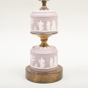 Wedgwood Lilac Jasperware Table Lamp
