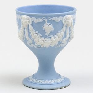 Wedgwood Blue and White Jasperware Egg Cup