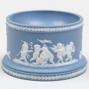 Wedgwood Blue and White Jasperware Salt