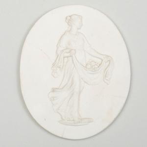 Wedgwood & Bentley White Jasperware Oval Medallion