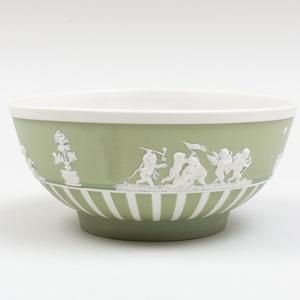Wedgwood Green and White Jasperware Bowl
