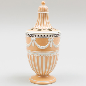 Wedgwood Pearlware Bulb Pot and Cover