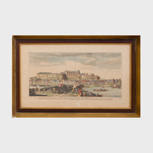 After Jacques Rigaud (1680-1754) : Vue du Chateau Royal D'Amboise ; and  Le Bassin D'Apollon , from The Royal Houses of France