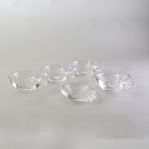 Group of Five Steuben Glass Bowls