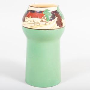 Arts and Crafts Style Glazed Pottery Vase