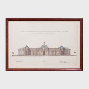 Carlo Rey:  Progetto di Costruzione Stabile per L'Esposizione Nazionale Artistica del 1879 in Torino