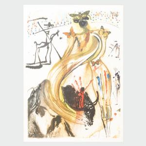 Salvador Dali (1904-1989): Tauromachie Papillons